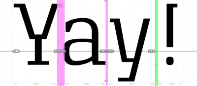 New features in font editor Glyphs 2.2