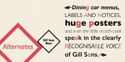 Gill Sans Nova, new version of Gill Sans by Monotype