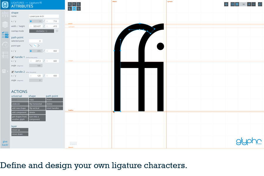 Glyphr studio, an online font editor