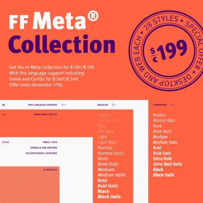 Celebrating FontFont's 25th with FF Meta