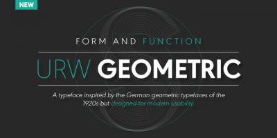 New font – URW Geometric by Jörn Oelsner