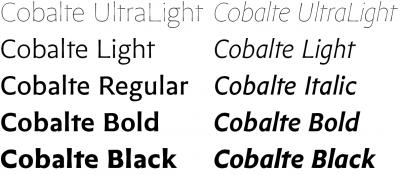 New font – Cobalte by Jean-Baptiste Levée