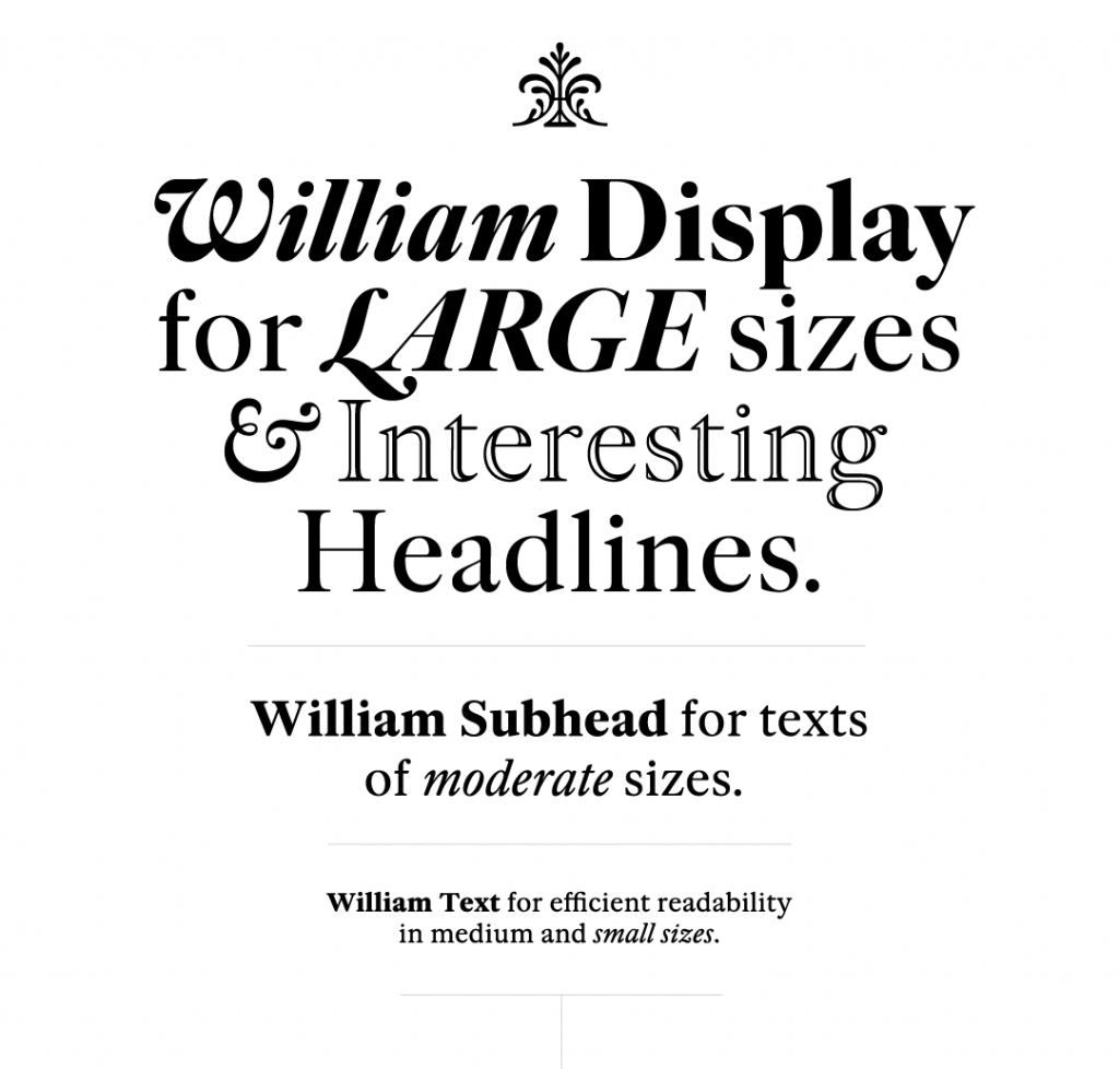 William, a new interpretation of Caslon types