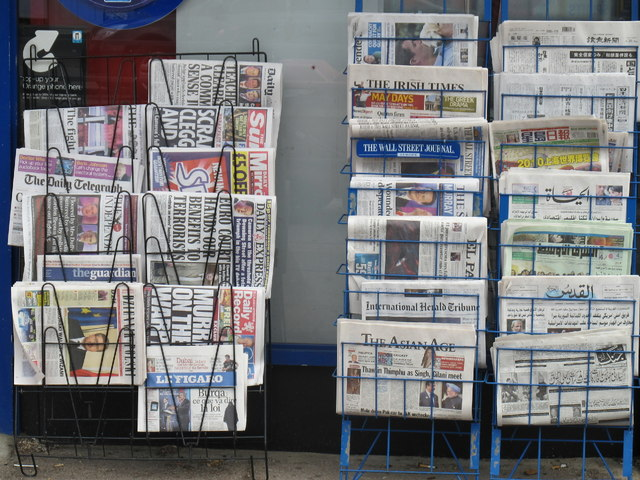 Newspapers are heading for that print cliff fall