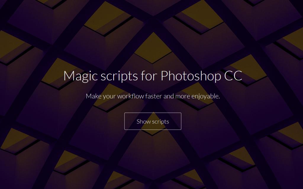 Magic scripts for Adobe Photoshop CC