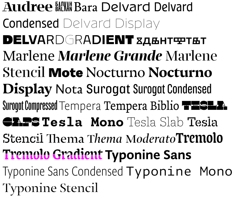 Typotheque welcomes Typonine's font collection