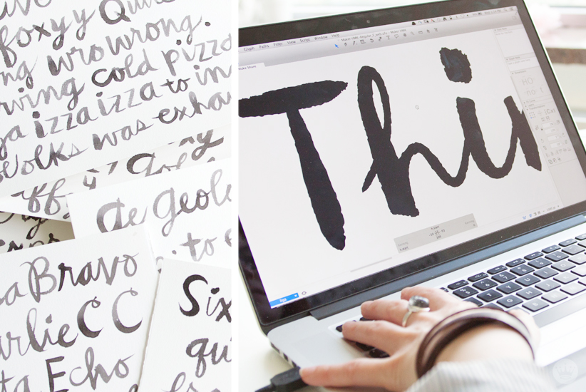 The process of creating a font