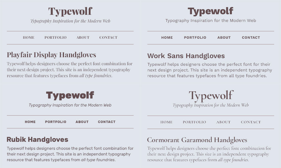 Curated collection of Google Fonts