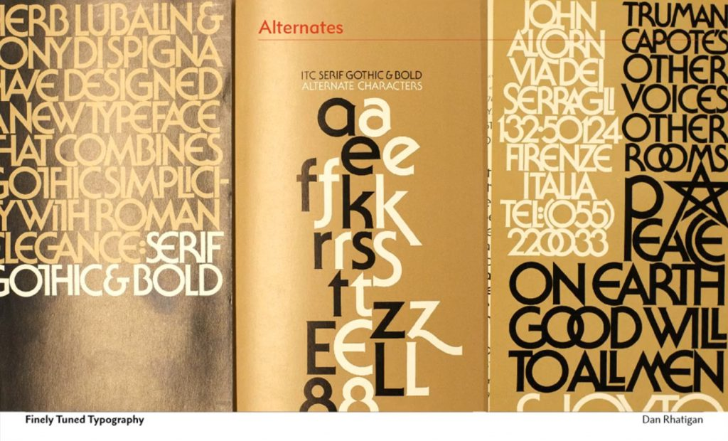 Finely tuned typography: sweating the small stuff