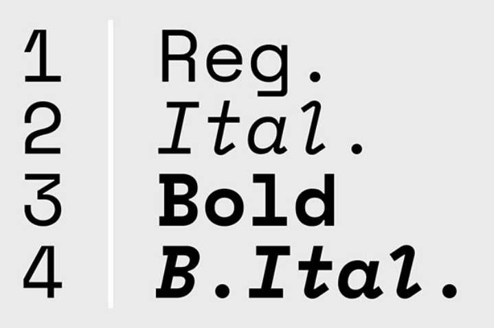Space mono for Google fonts