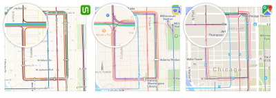 Transit Maps vs. Apple vs. Google