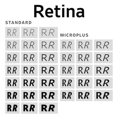 Retina, new release by Frere-Jones Type