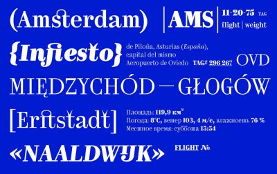 Kazimir font is inspired by type errors in early Russian printing