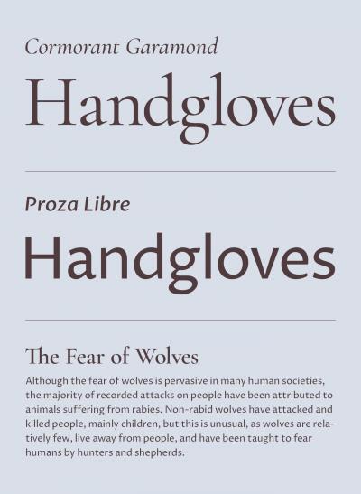 Five fresh headline & body text pairings on Google Fonts