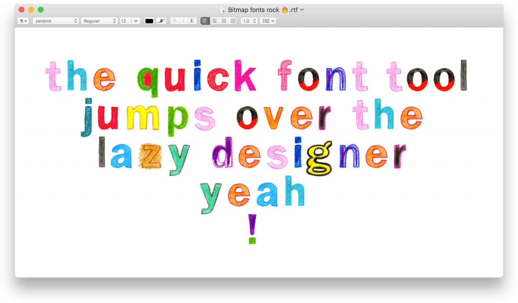 Create your first color font, step-by-step
