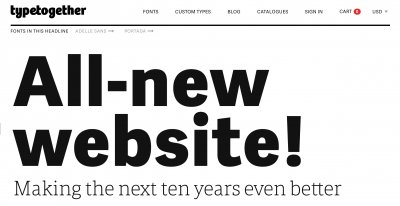 TypeTogether announced new website