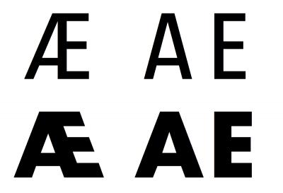 Designing the letter Æ