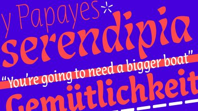 New typeface –Lisbeth by TypeTogether