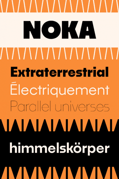 New font – geometric sans Noka by Blackletra