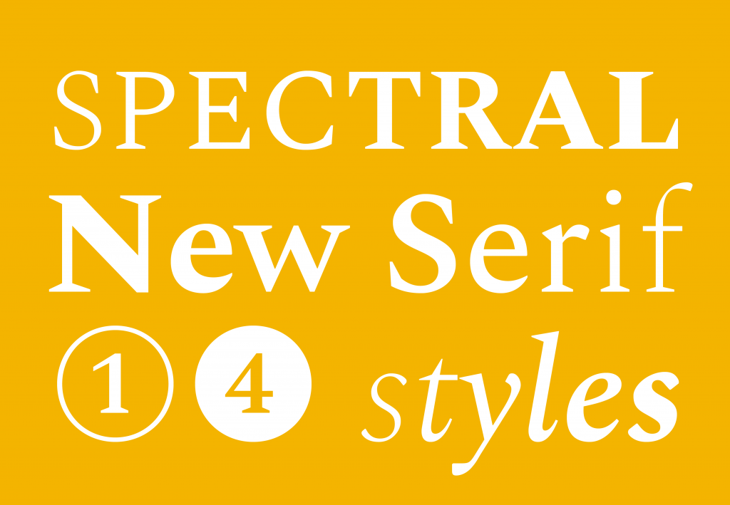 Meet Spectral, a new typeface for Google Fonts
