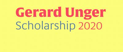 Gerard Unger Scholarship 2020